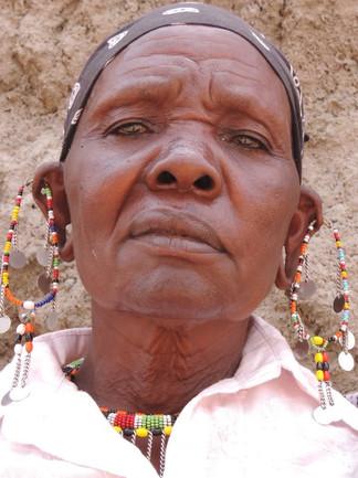 Fierce masai lady