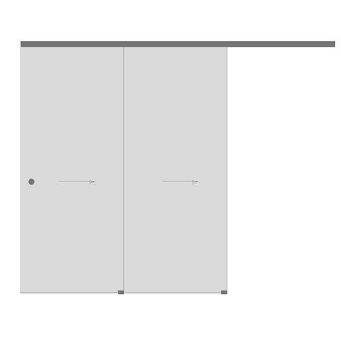 Телескопическая раздвижная двухстворчатая дверь №7