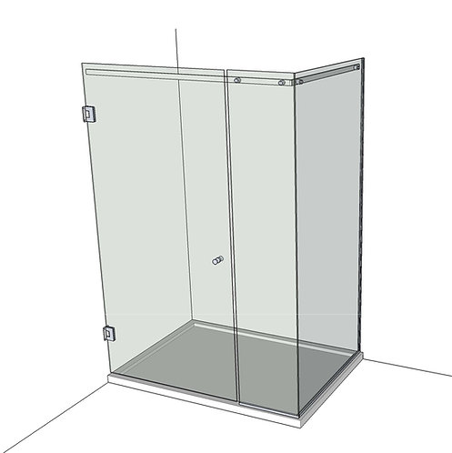 №8 Душевая дверь с экраном