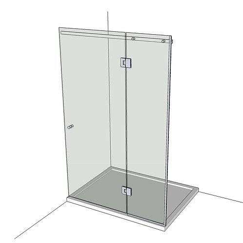 №6 Душевая дверь с экраном