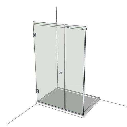 №5 Душевая дверь с экраном