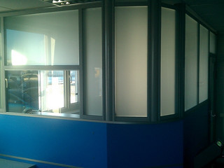 Офисная перегородка с матовым стеклом