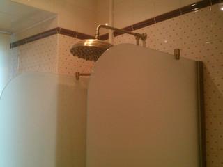 Стеклянная перегородка в ванну