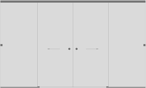 Перегородка с раздвижной дверью №5
