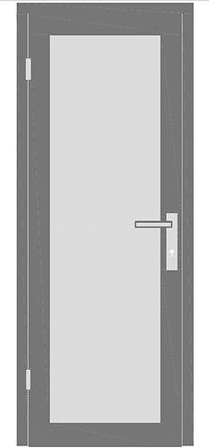 Стеклянная межкомнатная дверь в раме №1