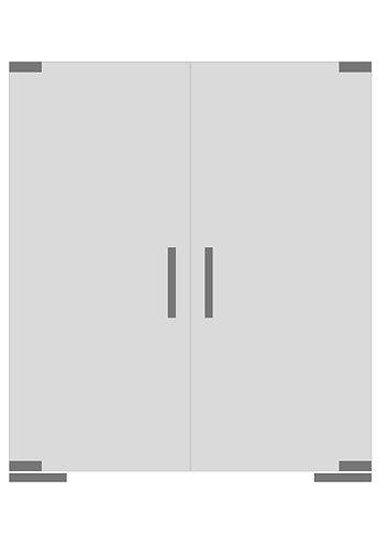 Стеклянная дверь №5»