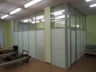 Офисная перегородка в спорт зал