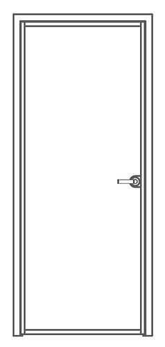 Стеклянная межкомнатная дверь в раме