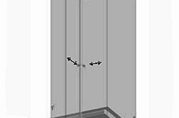 №P4 Душевая дверь с экраном