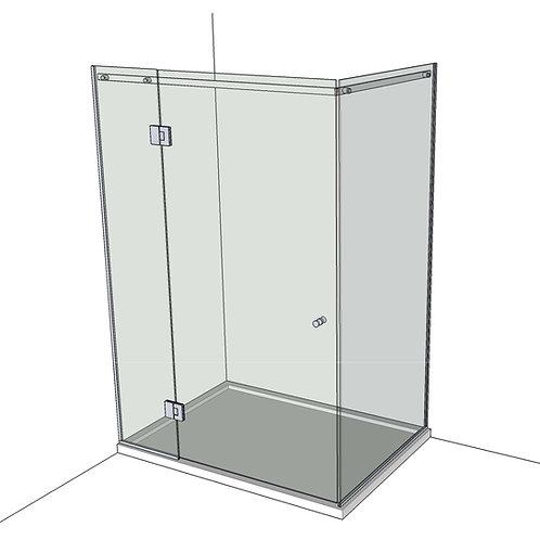 №9 Душевая дверь с экраном