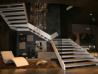 Лестница с боковыми косоурами