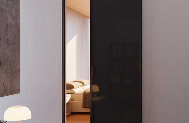 Раздвижная дверь с одинарным остеклением