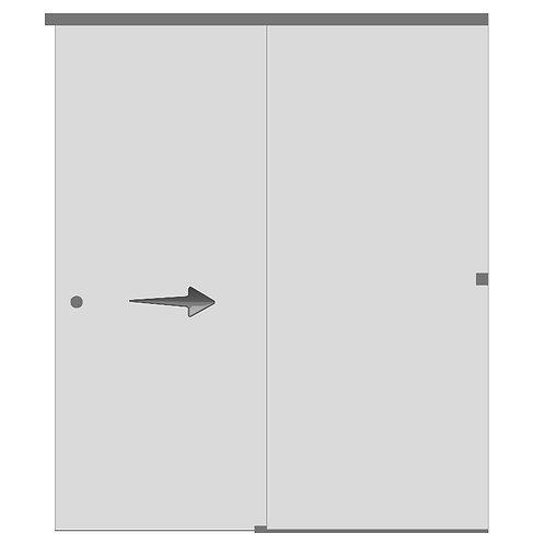 Перегородка с раздвижной дверью №3