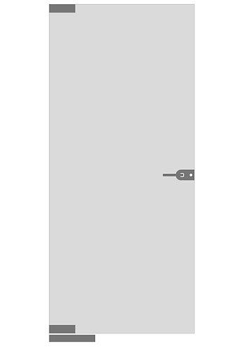 Стеклянная дверь №4»