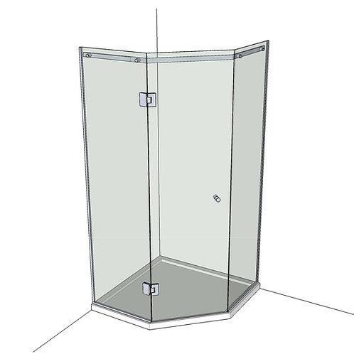 №10 Душевая дверь с экраном