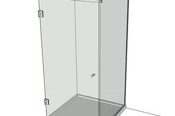 №7 Душевая дверь с экраном