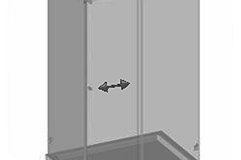 №P2 Душевая дверь с экраном