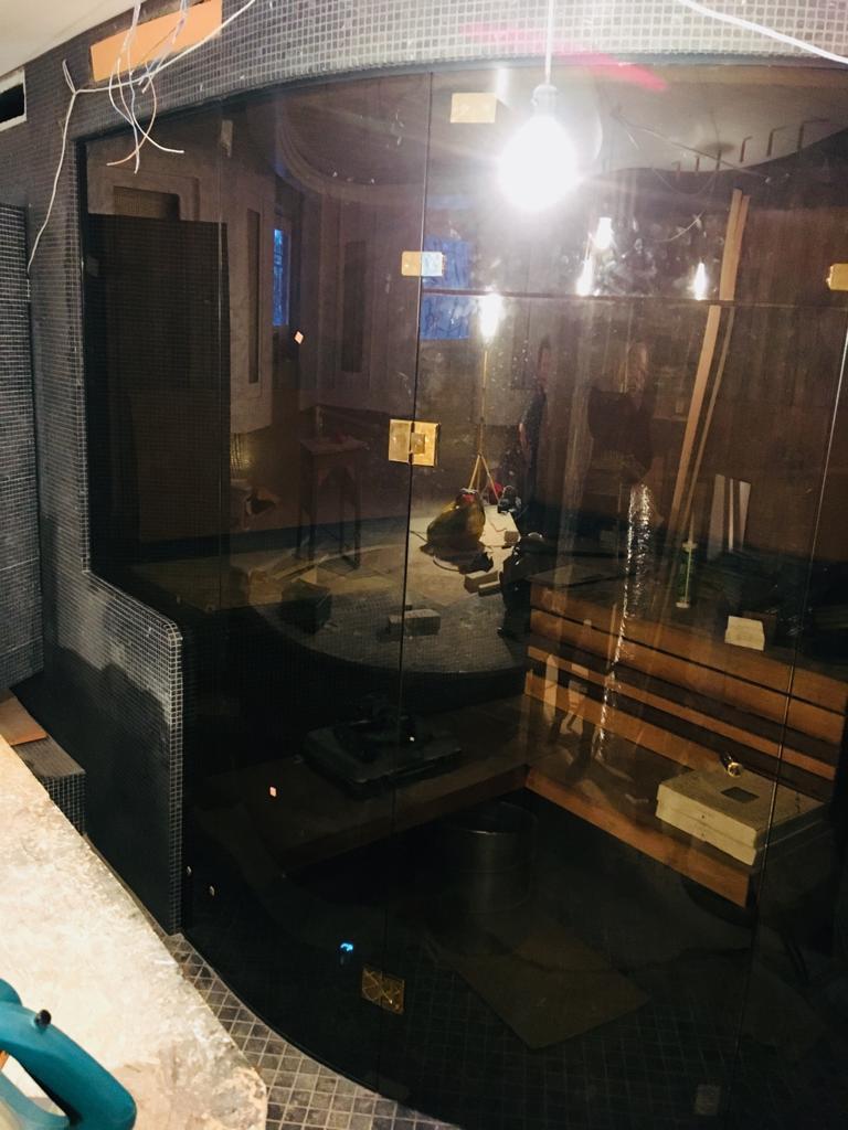 Душевая кабинка в сауну