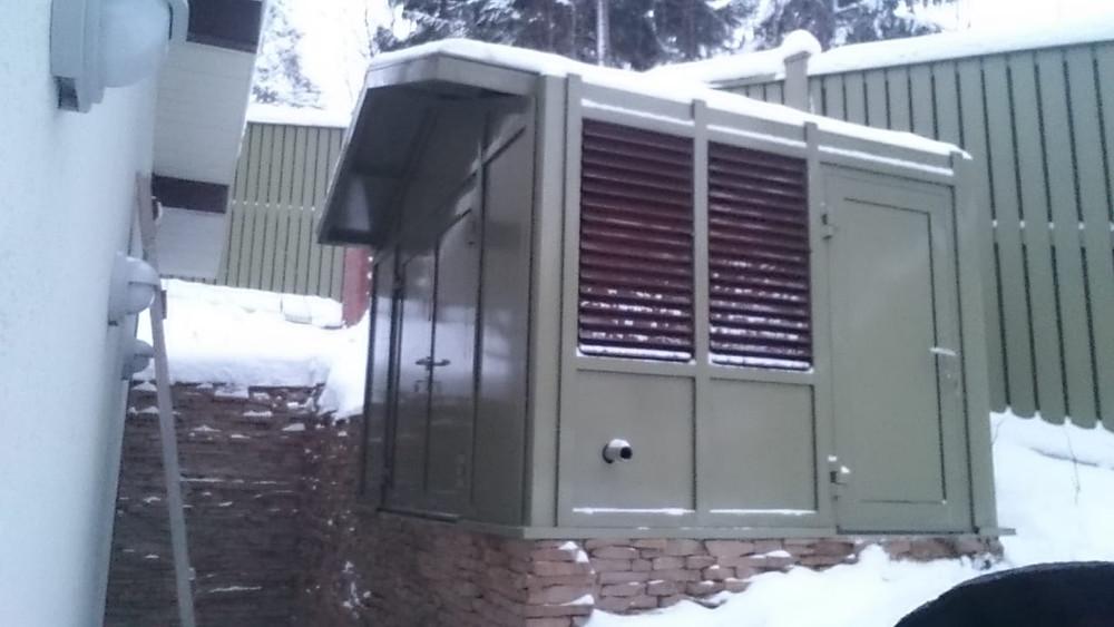 Алюминиевый навес для генераторной установки