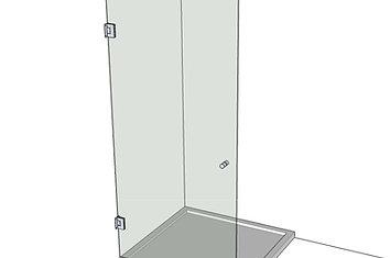 №4 Душевая дверь