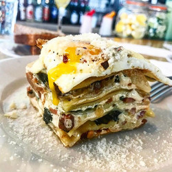 The happiness I have that #brunch #lasagna is a thing is unquantifiable 🙏😍 BRUNCH LASAGNA, PEOPLE.