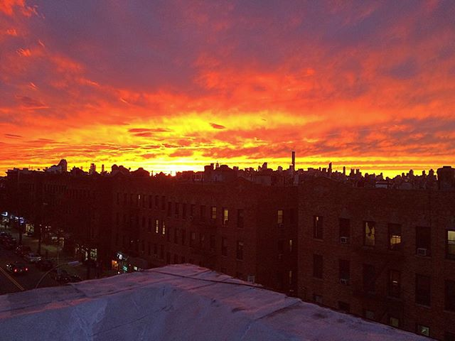 #livefromqueens_ stuffed from #friendsgiving and enjoying this incredible sunset with the #qnskids.j