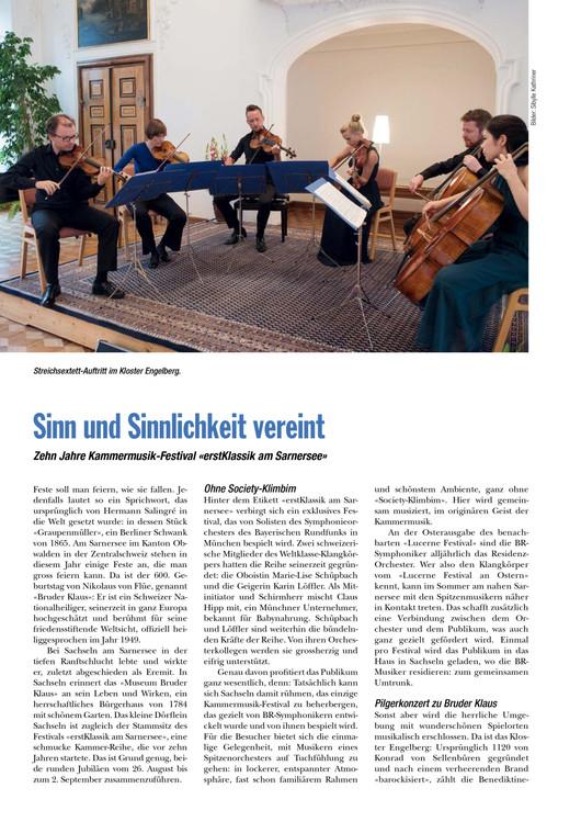 """""""Sinn und Sinnlichkeit vereint"""" - Artikel in Musik & Theater zum Jubiläum von """"er"""