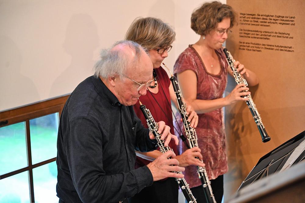 Heinz Holliger, Marie-Lise Schüpbach, Andrea Bischoff. Bild Romano Cuonz
