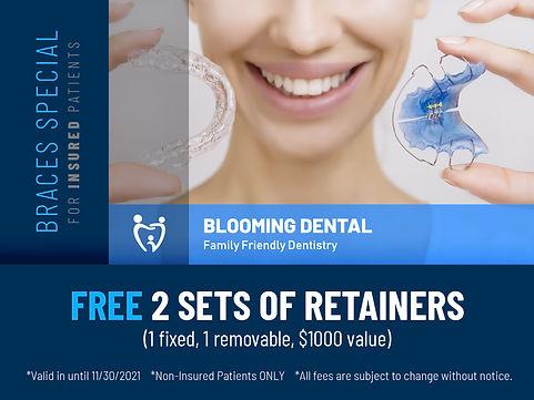 Blooming dental Cedar Park_Braces Specials_2 Retainers_Oct 2021.jpg