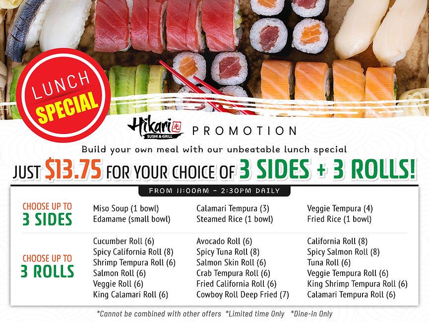 Hikari Sushi_Lunch Special Promotion_Jun