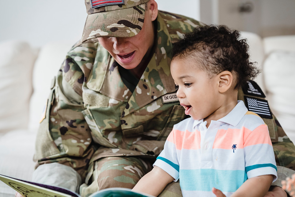 military spouse visiting their child