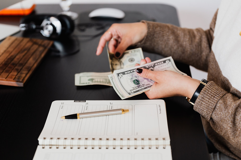 woman creating post divorce budget