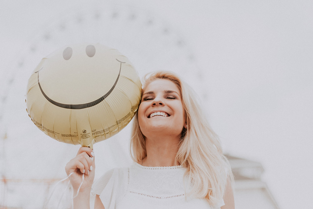 woman staying positive