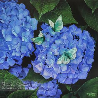 """""""Hortensia med fjärilar"""""""
