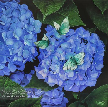 """""""Hydrangea with butterflies"""""""