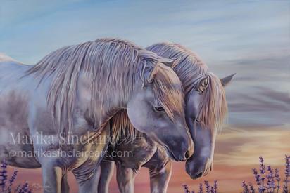 """Horses at sunset"""