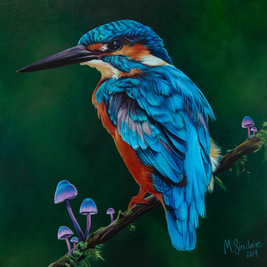 """Kingfisher with mushrooms"""