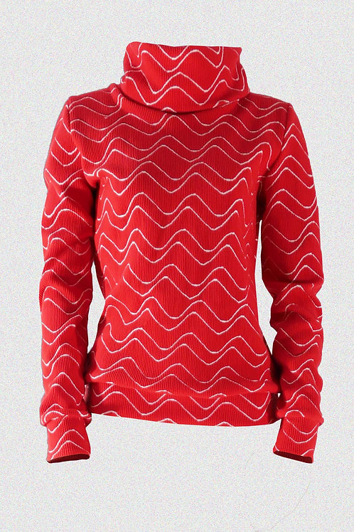 ROLLKRAGEN PULLOVER red vibration