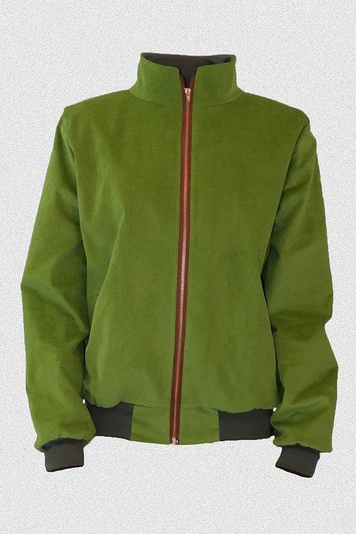 KORDJACKE mit Stehkragen Grün