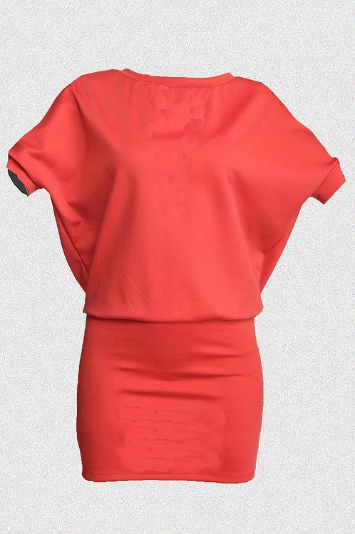 BAT DRESS red