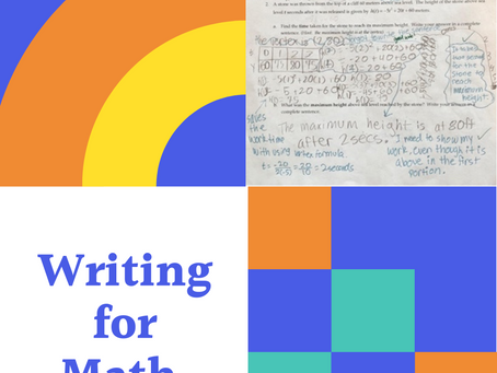 Writing for Math: Developing Growth Mindsets in Young Mathematicians