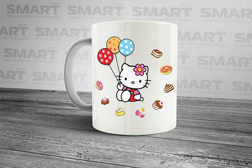 "Чашка ""Kitty и шарики"". Дизайнер Алексей Ившенко"