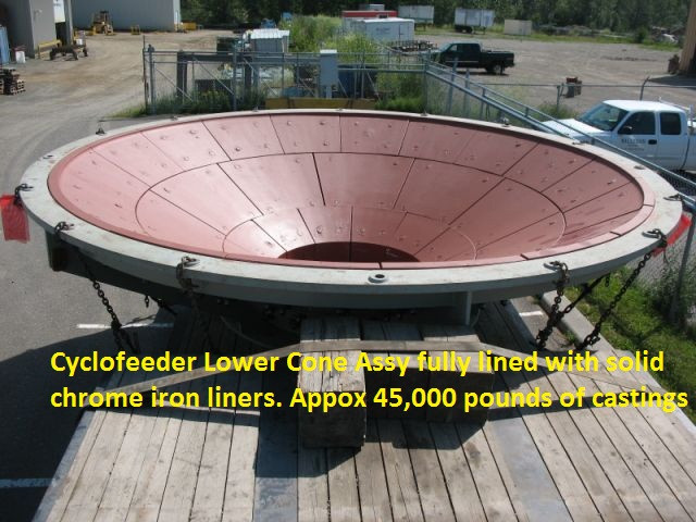 Lower Cyclofeeder Assembly fully lined (