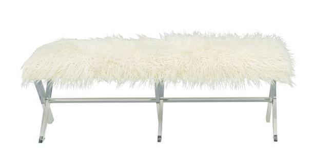 Faux Fur Bench