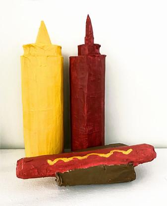 Hotdog, Mustard, Ketchup