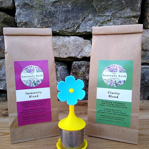 Funky flower infuser gift set