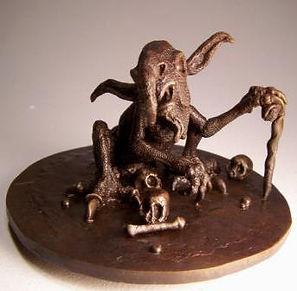 Bronze fantasy sculpture by Vincent Villafranca of Villafranca Sculpture