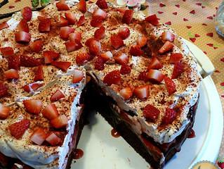 Glutenfreie Erdbeer Schokoladen Torte