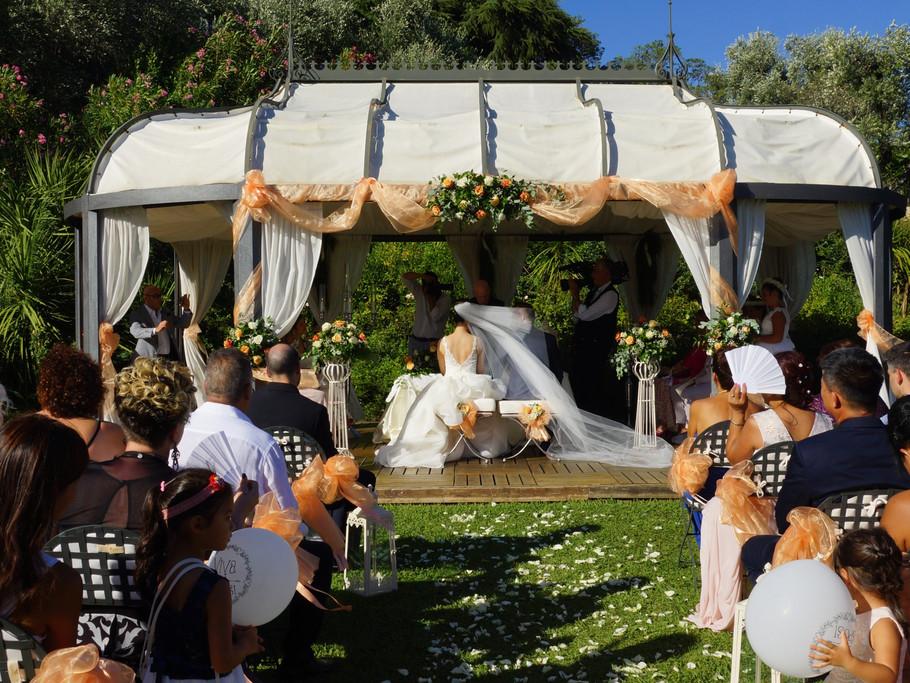 Allestimento cerimonia simbolica
