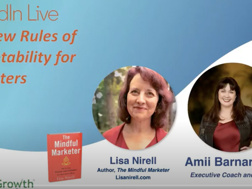 Mindful Marketer Life Stream   The New Rules of Promotability with guest Amii Barnard-Bahn